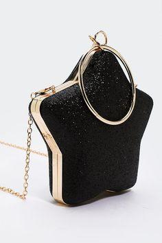 adc167da2464 WANT Catch a Falling Star Structured Bag Structured Bag, Falling Stars,  Unique Purses,