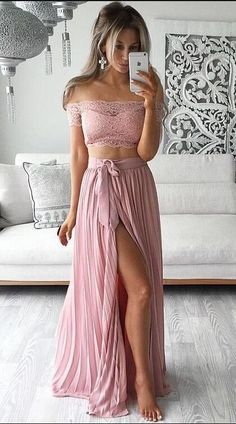 New Arrival 2 pieces Prom Dress,Long Prom Dresses,Cheap