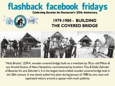 Each week during 2013, we will feature a flashback photo and share our history. Please share these weekly postings with your friends and family and join us in celebrating our 125th anniversary. Week 36 - The Covered Bridge