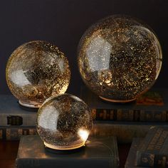 This is crazy! Crazy beautiful! - Twinkling Light Spheres from Pier1 Imports