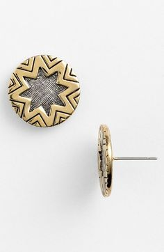 House of Harlow 1960 Two Tone Engraved Stud Earrings available at #Nordstrom
