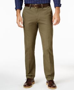 Club Room Men's Big and Tall Flat-Front Chinos