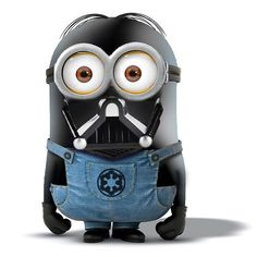 Despicable Me ~ Minion ~ Darth Vader from Star Wars Image Minions, Minions Images, Minion Pictures, Minions Quotes, Funny Pictures, Funny Images, Funny Pics, Funny Jokes, We Love Minions