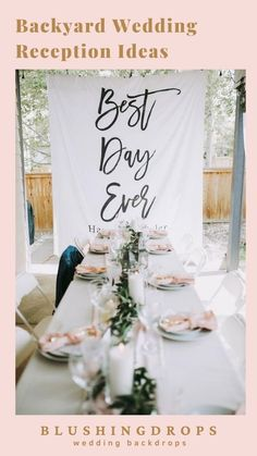 Unique Decoration for your Best Day Ever! Backyard Wedding Reception Inspiration #backyardwedding #2021wedding #smallwedding #outdoorwedding #weddingreception Rustic Wedding Backdrops, Simple Wedding Decorations, Wedding Ceremony Backdrop, Rustic Wedding Signs, Wedding Reception, Softball Wedding, Basketball Wedding, Golf Wedding, Indoor Wedding