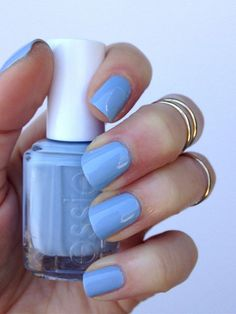 Make a splash in a summery blue nail polish like 'salt water happy'.