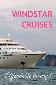 """Can affordable luxury cruising get any better? Perhaps not! Windstar Cruises new yachts are real winners -- everyone gets a beautiful suite, and the food is amazingly delish! So hop aboard, and read our review of the new """"Windstar Pride""""!"""