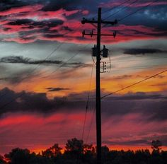 Good Morning and Lineman Love, Power Lineman, Electrical Lineman, Journeyman Lineman, Utility Trailer, Morning Sunrise, New Chapter, Wyoming, Art
