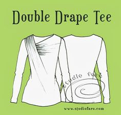 Best patterns for when I have become a pro!! Pattern Puzzle - Double Drape Tee