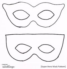 Simple super hero masks with printable template | Art Fun for ...