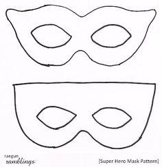 Downloadable mask template superhero vintage bright dessert table super hero mask pattern and tutorial maxwellsz