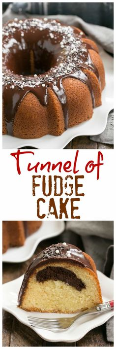 Tunnel of Fudge Cake | A rich butter cake with a fudgy ribbon in each slice. Make for Hallloween as a Tunnel of Doom Cake! #bundtcake #Halloween