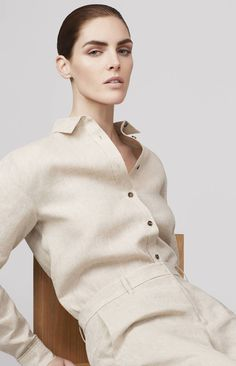 The Stories — Chapter 35 — Introducing Totême: Continental Cool from Elin Kling and Karl Lindman — THE LINE 2014 Trends, Summer Trends, Summer 2014, Spring Summer, Summer Sale, Hilary Rhoda, Elin Kling, Classic White Shirt, Linen Trousers