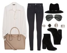 """""""Untitled #12180"""" by vany-alvarado ❤ liked on Polyvore featuring Plein Sud, Paige Denim, Witchery, Givenchy, Yves Saint Laurent and rag & bone"""