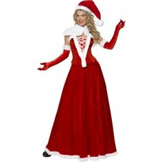ddbc59003323c3 Find your very own Santa Claus with the Luxury Miss Santa Costume. This  female Christmas fancy dress costume includes a hat