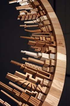 """ Incredible Wood-Carved Cityscapes by James McNabb "" The City Series is a collection of wooden sculptures by designer James McNabb that mimics the skyscrapers that make up the New York. Wood Projects, Woodworking Projects, Got Wood, Wood Sculpture, Art And Architecture, Wood Carving, Wood Art, Amazing Art, Wood Crafts"
