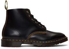 DOC MARTENS BOOTS 101 Black Smooth Sz 6 UK Vintage BRAND NEW