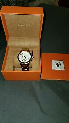 Tory Burch Rose Gold Collins Cream Dial Chronograph Watch Used Ebay Paintings, Chronograph, Tory Burch, Rose Gold, Watches, Free Shipping, Cream, Best Deals, Products