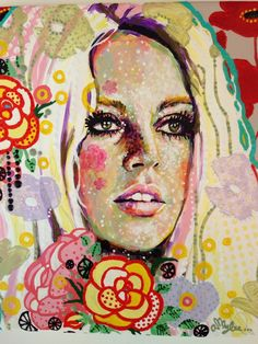 Beautiful new painting from Amylee Paris #art #amyleeparis