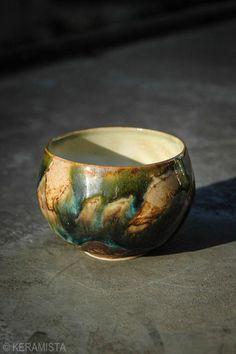 So bright colors! Nice tea bowl for oolong tea... http://keramista.com/products/9262787 #tea #ceramic #handmade #tea ceremony #teaware