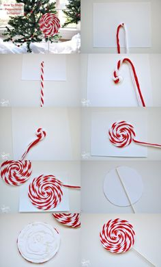 Easy Christmas crafts for kids to make are a great way to celebrate the holidays with your toddler or kids. These DIY Christmas crafts are great for gifts! Christmas Crafts For Kids, Christmas Candy, Simple Christmas, Christmas Projects, Holiday Crafts, Christmas Holidays, Christmas Wreaths, Peppermint Christmas Decorations, Diy Christmas Hanging Decorations