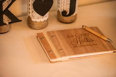 Wooden Guest Book. From Etsy