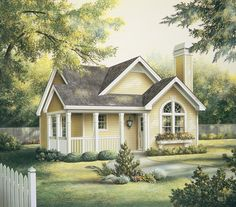 Eplans Cottage House Plan - Two Bedroom Cottage - 1084 Square Feet and 2 Bedrooms from Eplans - House Plan Code HWEPL64374