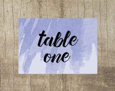 Violet Table Number  www.etsy.com/uk/shop/PippinPrints