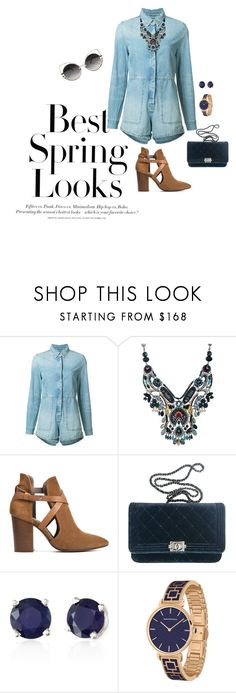 """""""Spring blues"""" by beverlyclm ❤ liked on Polyvore featuring H&M, Ksubi, Ayala Bar, H London, Chanel, Effy Jewelry and Marc Jacobs"""