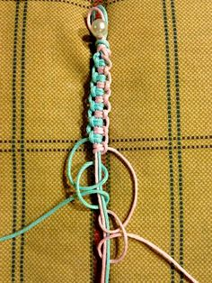 macrame braid - do over headphones cord