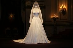 The wedding dress of Catherine, Duchess of Cambridge on display at Buckingham Palace - 2012    Image copyright to respective owner