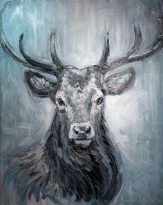 Cerf - Huile sur toile - 73 x 92 cm - 2015