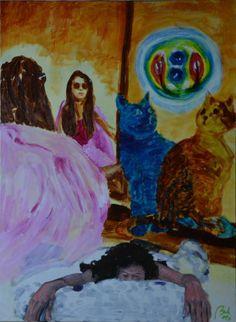 Paradoxal dreams (daydreams, scene 1) (tryptych), bachmors artist
