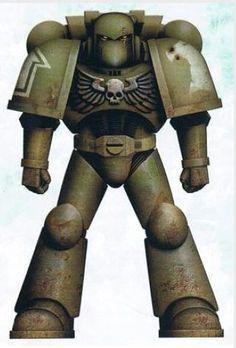 Raptors Battle-Brother Manasai in Mark VI Power Armour.