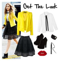 """""""Hello Yellow"""" by hollywood-001 ❤ liked on Polyvore featuring Chloé, Alexandre Vauthier, New Look and Clinique"""