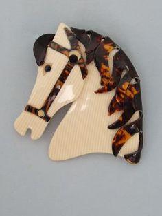 Horse Brooch by Lea Stein