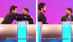 Panel Shows - Jack Whitehall + David Mitchell on Would I Lie to You? In the article, is a definite favorite, but they're all good. Jack Whitehall, David Mitchell, British Humor, British Comedy, Mock The Week, Bad Education, Funny People, Laugh Out Loud, Comedians