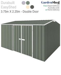 Merveilleux EasySheds 3.75m X 2.25m Double Door