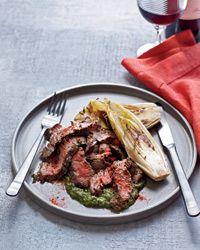 Grilled Skirt Steak with Salsa Verde // More Great Steak Recipes: http://www.foodandwine.com/slideshows/steak #foodandwine