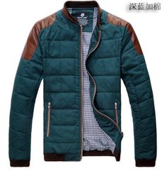 Men& Two Tone Ultra Soft Jacket with PU Leather Trimmed Cool Outfits, Casual Outfits, Men Casual, Fashion Moda, Fashion Sale, Fashion Outlet, Paris Fashion, Fashion Fashion, Runway Fashion