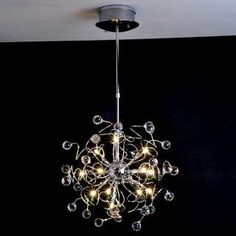 Ceiling Lights - Chandeliers - Crystal Chandeliers - Artistic Crystal pendant Light with 15 Lights Crystal Pendant Lighting, Chandelier Lighting, Pendant Lamp, Crystal Chandeliers, Elegant Chandeliers, Glitter Phone Cases, Marble Case, Cool Gadgets, Modern Lighting