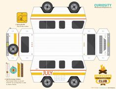 3d paper camper/calendar