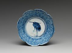 Deep Dish with Egret Design, Japan, 1639.