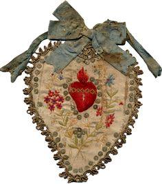I cuori di stoffa in Santa Maria del Popolo - Il Campanile Enna; cloth hearts in Santa Maria del Popolo ༺♥༻