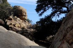 Rocky Mountain path.  Location popular for rock climbers in Southern California.