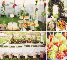 Elegant Secret Garden First Birthday | Birthday dessert tables ...