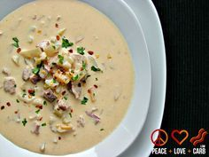Crock Pot Smoked Sausage Cheddar Beer Soup - Low Carb and Gluten Free from Peace + Love + Low Carb / #lowcarb shared on https://facebook.com/lowcarbzen
