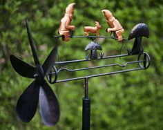 Garden Whirligig With Gnomes Garden Whirlygig Windvane Ornament Garden  Windmill