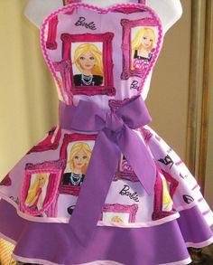 Barbie apron-etsy