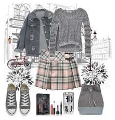 """""""Untitled #966"""" by misaflowers ❤ liked on Polyvore featuring Kat Von D, Abercrombie & Fitch, Converse, Opening Ceremony and Chiara Ferragni"""