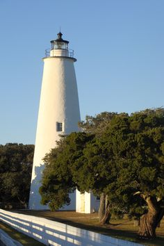 Lighthouse on Ocracoke, OBX, NC. I've got the fever for lighthouses